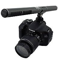 双诺Z12 专业采访麦克风 新闻录音话筒 摄像机单反相机DV枪式麦克风 黑色 (送转接头 电池 优质防风棉)