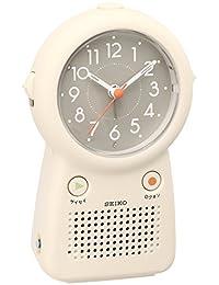 SEIKO CLOCK (セイコークロック) 目覚まし時計 アナログ 録音再生機能つき アイボリー EF506C