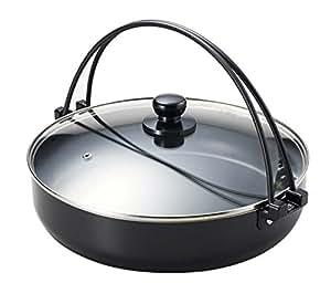 PEARL METAL 珍珠贅的氟素加工 IH 对应带玻璃锅盖缝隙煮炖锅 30cm