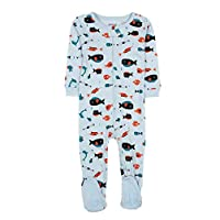 """Leveret Baby Boys""""Sharks"""" Footed Sleeper Pajama 100% Cotton (6M-5 Years)"""