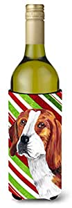 Beagle Candy Cane Holiday Christmas Michelob Ultra Koozies for slim cans SC9329MUK 多色 750 ml