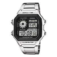 CASIO 卡西欧 Collection AE-1200WH 男士手表,silver