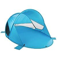 Ultrasport 德国沙滩帐篷 2-4人帐篷 速抛秒开 弹出式帐篷 防紫外线SPF60 户外露营 380100000362 蓝色
