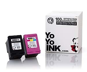 YoYoYoInk 改制墨盒替换装适用于 HP 60XL 60 XL PARENT 1 只黑色,1 种颜色