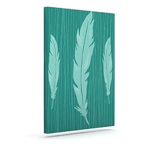 Kess InHouse Jaidyn Erickson Feathers 户外帆布壁画,50.8 x 60.96 cm