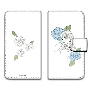 卡丽 壳 印刷手册 女孩子和玫瑰 智能手机壳 手册式 对应全部机型 女の子とバラA 7_ Huawei honor 8 FRD-L02