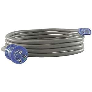 Conntek 25167 13 安培 125 伏 1-1/2 英尺 SJT 16/3 *级/绿色点线 NEMA 5-15P 到 IEC-60320-C13 15 英尺 25173
