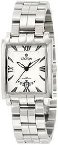 Croton 女士石英不锈钢休闲手表,颜色:银色调(型号:CN207374SSDW)