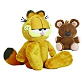 Aurora World 加菲猫毛绒玩具套装:加菲猫 14 英寸和小熊 6 英寸