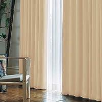 【窗户美人】【1级遮光】采用订购窗帘所使用的全消光布料的高级遮光1级窗帘! 专注于颜色制作的NEW颜色登场! 尺寸展开也很丰富! 「阿拉伯式」 米色 幅100×丈230cm 2枚組 -