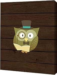 """PrintArt GW-POD-48-TR1480-13x16""""Hipster Owl"""" 由 Tamara Robinson 创作画廊包边艺术微喷油画艺术印刷品 16"""" x 20"""" GW-POD-48-TR1480-16x20"""