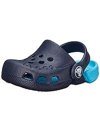 Crocs 卡駱馳 兒童洞洞鞋 Electro系列 兒童元氣平底休閑鞋涼拖鞋 深藍色/電光藍色 835772