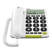Doro PhoneEasy 312cs 有绳大按键电话,带大显示屏 白色 cm