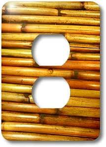 3dRose lsp_100753_6 重木制板条 2 插头插座盖