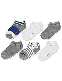 Calvin Klein 男童 CK 运动隐形袜,多色,4-7