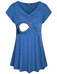 Annery 女式舒适分层哺乳上衣和哺乳衬衫