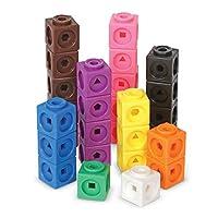 Learning Resources 数学拼接积木 立方体/立方积木, 计数教学玩具/增智玩具, 1000个套装 方块 4岁以上儿童