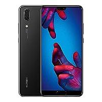 华为 P20 128 GB 5.8 英寸 FHD + FullView Android 8.16901443224227 UK Version Huawei P20 (Single SIM) 黑色