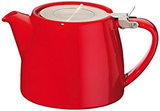 FORLIFE Stump 18-Ounce Teapot with SLS Lid and Infuser, Red