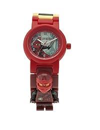 LEGO NINJAGO hands OF TIME KAI 儿童迷你人偶表链 buildable 手表 |red / 黑色 | 塑料 | 28MM 保护套 diameter| ANALOGUE 石英 | 男孩女孩 | 官方
