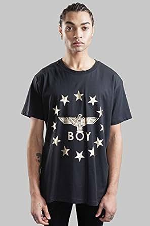 BOY LONDON 中性 T恤 1005026 黑色/金色 XS