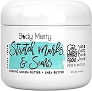 Body Merry Stretch Marks & Scars Defense Cream - 日常香型保湿霜,含*可脂 + 乳木果油,去除旧/新*痕 原味