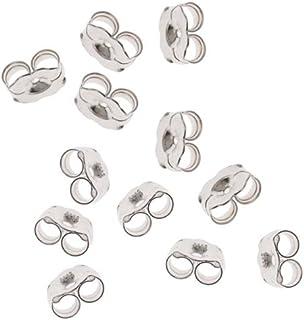 Beadaholique 12-Piece Sterling Earring Backs, 5.5mm, Silver