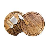TOSCANA - 野餐时间品牌 Brie Acacia 木奶酪板套装 带奶酪工具