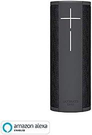Ultimate Ears Megablast便攜無線藍牙音箱,Wi-Fi,強大低音,Alexa內置,防水,電池可使用16小時,麥克風-黑色