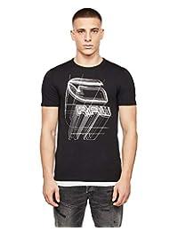 G-Star Raw 男士透视标志图案修身 T 恤