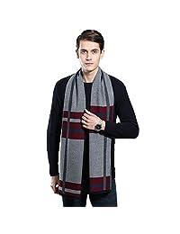男式冬季羊绒围巾–Ohayomi 男式时尚正装围巾,配有35种颜色