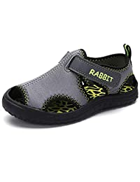 Aiminila 男孩女孩速干可调节水鞋户外徒步沙滩运动凉鞋