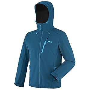 MILLET 觅乐 徒步系列 男士 TRACK HOODIE 软壳衣 MIV7442-7413-S 波塞冬蓝(7413) 170/92A(S)