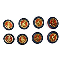*蓝金色锚扣套装适用于大衣和西装 - *蓝纽扣 - Gold / Navy/red 8 Small 5/8' 8965