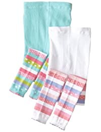 Country Kids Little Girls'  Candy Color Block Capri 2 Pair