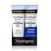 Neutrogena 露得清 超透明抗干性非油膩防曬乳液,帶SPF 45,符合TSA的旅行裝規格,容量為88毫升,3盎司(約85.05克)/一支,一包2支