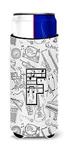 字母 F 音乐笔记字母罐或瓶子 Hugger CJ2007-FCC