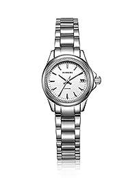 ROSSINI 罗西尼 细腻精钢质感 绽放迷人魅力石英女士手表 R5394W01L(亚马逊自营商品, 由供应商配送)