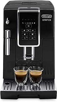 De'Longhi 德龙 Dinamica ECAM 350.15.B全自动咖啡机(1450W,数字显示屏,新型卡布其诺系统,一键制备喜爱的饮品,可拆卸冲泡组件,同时制备2杯