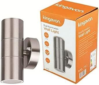 Kingavon BB-HL194 圆形壁灯,不锈钢,银色