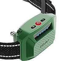HELLKOPF 可充电止吠项圈 – 狗狗项圈,无伤害震动模式,适用于小型/中型/大型犬 – IP67,无遥控。