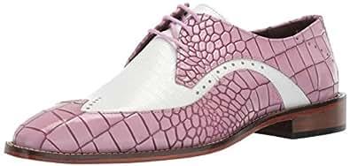 STACY ADAMS 男士 Trazino Croco-Lizard Print Wingtip 系带牛津鞋 多种薰衣草 13 M US