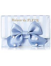 MAISON 德 Fleur 条纹缎面珍珠卡套 8A92FTJ1600
