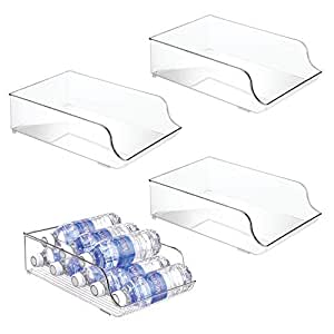 mDesign ClearFridgeBinz 透明 4片装