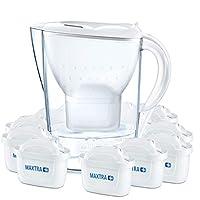 BRITA 碧然德 Marella海洋系列 冷水濾水壺,帶一年用濾芯包,白色,2.4L(12只裝)