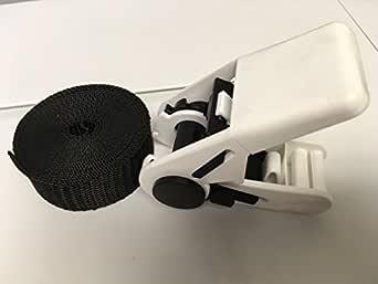 Seculok 塑料水槽皮带扣 2.54 厘米 x 38.10 厘米,白色带黑色皮带(4 件/包)
