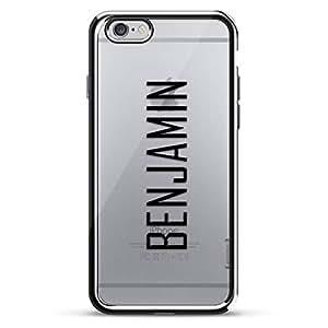 LUXENDARY CASE 对开式 黑色LUX-I6CRM-NMBENJAMIN2 Name: BENJAMIN, Modern FONT Style 银色