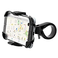 Aduro U-Grip Plus 通用自行车固定架 - 适用于摩托车、车把、滚动条,适用于所有 Android 智能手机、iPhone 6 6s 7 Plus 5 5s 5c 和 GPS 支架 黑色