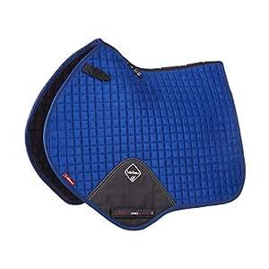 LeMieux ProSport Suede Close Contact Square (D-Ring) - Benetton Blue, Small/Medium