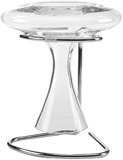 Leopold Vienna 190 x 160 x 200 mm Chromed/Silicone De Luxe Powerpull Decanter Carafe Drying Stand, Silver